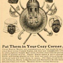 1901 Vintage Ad Papier Mache Art Heads Armor Milwaukee - Original Print Ad