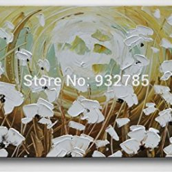White Butterfly Artwork Wall Painting Landscape Oil Painting On Canvas Palette Knife Modern Painting Home Decor Wall Art