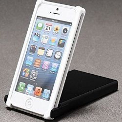 Trick Cover For Iphone 5 / 5S (White X Black) Plastic Case Cover Nunchaku Butterfly Knife Action