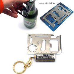 Top Plaza 11 In 1 Pocket Multi Credit Card Survival Camping Knife Saw Bottle Opener Tools