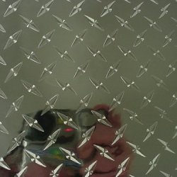 Diamond Plate Wall Border, 8 Inch X 10 Feet Vinyl With Adhesive