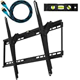 Cheetah Mounts APTMM2B Flush Tilt Dual Hook 13 from wall Flat Screen TV Wall Mount