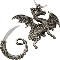 Frost Cutlery & Knives 18158 Flying Dragon Necklace With Pewter Construction