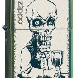 Zippo Drinking Skeleton Lighter, Chameleon