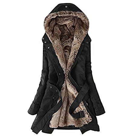 Women's Winter Thicken Cotton-padded Warm Button Hoodie Overcoat