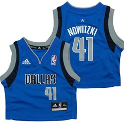 Dallas Mavericks Nba Infant Boys Dirk Nowitzki #41 Replica Away Jersey, Blue (12 Mo, Blue)