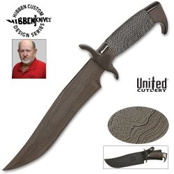 United Cutlery Gh627D Gil Hibben Highlander Bowie Damascus Knife With Sheath