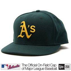 Oakland Athletics Mlb Authentic Baseball Cap 7-3/8 Osfa - Like New