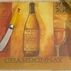 Murano Collection White Wine Design Cheese Board And Knife Set