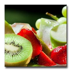 Red Wall Art Painting Halves Strawberry Kiwi Green Apple And Sweet Grapes Prints On Canvas The Picture Food Pictures Oil For Home Modern Decoration Print Decor
