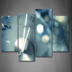 Big Watch With Three Indicators Bright Halo Wall Art Painting The Picture Print On Canvas Art Pictures For Home Decor Decoration Gift