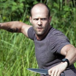 Jason Statham Fighting With Knives 24X36 Poster