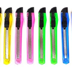 Familymaid Retractable Razor Cutter Knife Assorted Color 8Pc / Per Pack