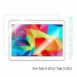 Boriyuan Tab 4 10.1 Screen Protector, Tab 3 10.1 Screen Protector, [Tempered Glass Protection] Ultra Slim Crystal Clear Premium Tempered Glass Screen Protector For Samsung Galaxy Tab 4 10.1 Inch T530 T531/ Galaxy Tab 3 10.1 Inch P5200 P5210 P5213 Tablet -
