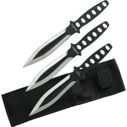 Perfect Point Tk-011B-3 Throwing Knife Set 6.5-Inch Overall