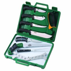 Outdoor Edge Game Processor Pr-1 12-Piece Portable Butcher Kit With Hard Side Carry Case