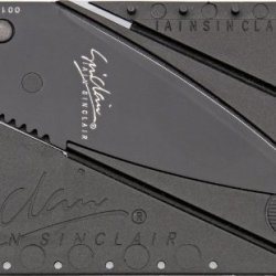 Cardsharp 1B Black Finish Credit Card Folding Safety Knife With Black Polypropylene Plastic Body