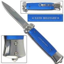 Striker Spring Assisted Tactical Knife - Nato Blue