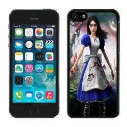 Diy Alice Madness Returns Girl Dress Knife Cheshire Cat Iphone 5C Black Phone Case