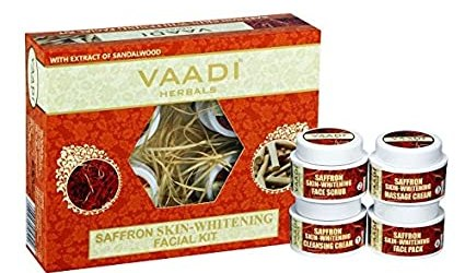 Vaadi Herbals Saffron Skin Whitening Facial Kit with Sandalwood Extract, 270g @Rs. 193