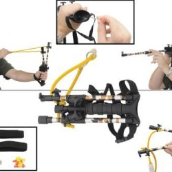 Cbr01C Combat Ready Blow Dart/ Slingshot 2-In-1 Combo Aluminum Slingshot Arms