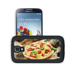 Pizza Dish Food Spices Tomatoes Cheese Dough Knife Fork Samsung Galaxy S4 Snap Cover Leather Design Back Plate Case Customized Made To Order Support Ready 5 3/16 Inch (132Mm) X 2 13/16 Inch (71Mm) X 4/8 Inch (12Mm) Liil Galaxy_S4 Professional Leather Plas