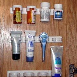 Spice Clips-3Racks/Pkg-1Pkg Holds12 Spice,Prescription,Otc Containers,Cords Etc