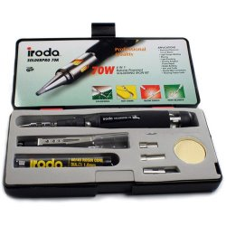 Iroda Solderpro 70 Cordless Refillable Butane Soldering Iron And Torch Kit