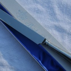 New Sheffield Bead Handmade Silver Plated Wedding Cake Knife Boxed