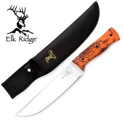 "Er-271Oc 15"" Overall Elk Tauoxe4Reg Ridge Butcher Hunting Knife - Wikqzzco6H Orange Camo Handle Ayeuiu56 Hlbv23Rt Elk Ridge Knife Tntay Features:15"" Overall Length.440 Stainless Steel Razor Sharp Blade.Heavy Duty Knife.Orange Camo Coated Wooden Handle.Elk"