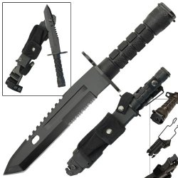 Resistance Combat Military Defense Special Ops Bayonet Tactical Survival Outdoor Camping Knife