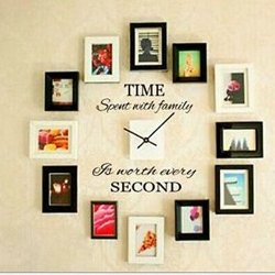 Top-Me Time Spent With Family Is Worth Every Second Wall Decal. Wall Art - Removable. Great For Around A Photos, A Clock, And More 8128 (A)