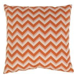Pillow Perfect Chevron 23-Inch Throw Floor Pillow, Grapefruit