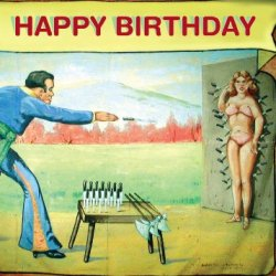 (6-Pack) Knife Thrower And The Woman Xxth Century Birthday Card - 20114