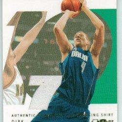 Dirk Nowitzki 2002-2003 Topps Ten Game Used Jersey Card #0772/1500 Mavericks!