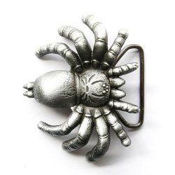 Hogar Mens Mens Zinic Alloy 3D Belt Buckle Spider Buckles Color Antique Silver
