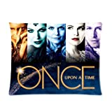 Pop Fantasy Fairy Tale TV Serise Once Upon A Time Roles Collage Personalized Custom Cotton Polyester Soft Pillowcase Cover 20X26 (One Side) Pillow Case