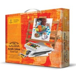 Galeria Acrylic Easel Painting Set