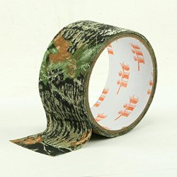 """2"""" X 10' Camouflage Adhesive Wrapping Fabric Tape - Mossy Oak Obsession Pattern"""