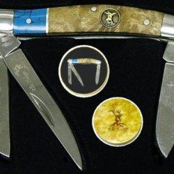 Elk Ridge Turquoise / Burl Folder Er323Tbl - Pocket Knives