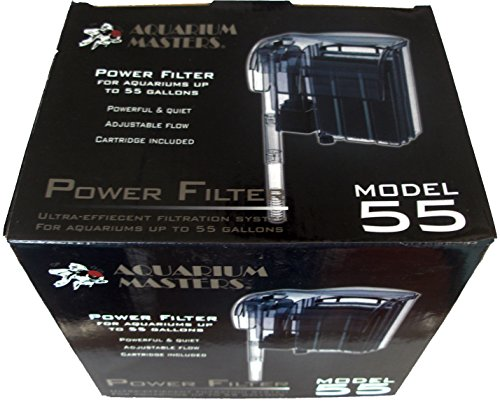 Up To 55 Gallon Tank Power Filter   Model 55 For Fresh Water Aquariums