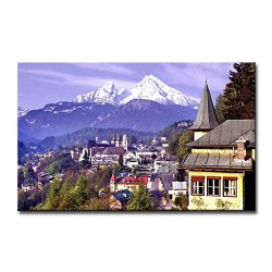 Wall Art Painting Germany Mountains Forest Pictures Prints On Canvas City The Picture Decor Oil For Home Modern Decoration Print
