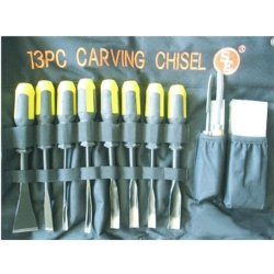 Se - Wood Carving Chisel Set - Professional Quality, 13 Pc