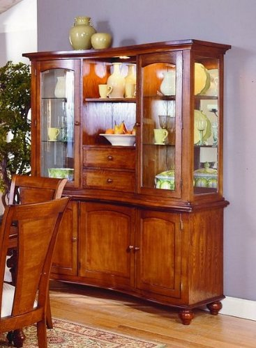 Image of Ashborough Collection Hardwood China Cabinet /Buffet Hutch (VF_HE1371-50)