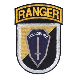 """Us Army Ranger Training Brigade Embroidered Patch - Ft Benning Georgia - Rtb - Ranger School - Ranger Instructor - Very Detailed 3 ½"""" X 5 ¼"""" Embroidered Patch With Non-Merrowed Edge And Wax Backing For Iron On Applications."""