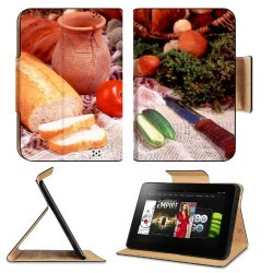 Cucumber Bread Tomato Baked Goods Herbs Knife Amazon Kindle Fire Hd 8.9 [2012 Version] Flip Case Stand Magnetic Cover Open Ports Customized Made To Order Support Ready Premium Deluxe Pu Leather 9 13/16 Inch (250Mm) X 6 7/8 Inch (175Mm) X 11/16 Inch (17Mm)