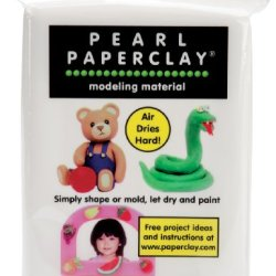 Creative Paperclay Pearl Paper Clay For Modeling Compound, 16-Ounce, White