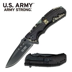 Us Army Knives Officially Licensed Army Strong Assisted Folding Knife A-A1015Dg