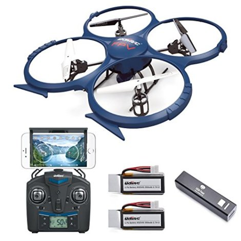 UDI-U818A-WiFi-FPV-RC-Quadcopter-Drone-with-HD-Camera-RTF-VR-Headset-Compatible-Headless-Mode-Low-Voltage-Alarm-Gravity-Induction-Includes-BONUS-BATTERY-Power-Bank-Quadruples-Flying-Time-FAA-Registrat
