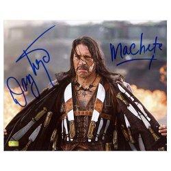 Danny Trejo Autographed 8X10 Machete Full Arsenal Photo With Machete Inscription